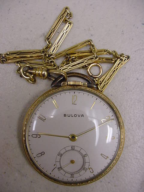bulova pocket watches vintage images